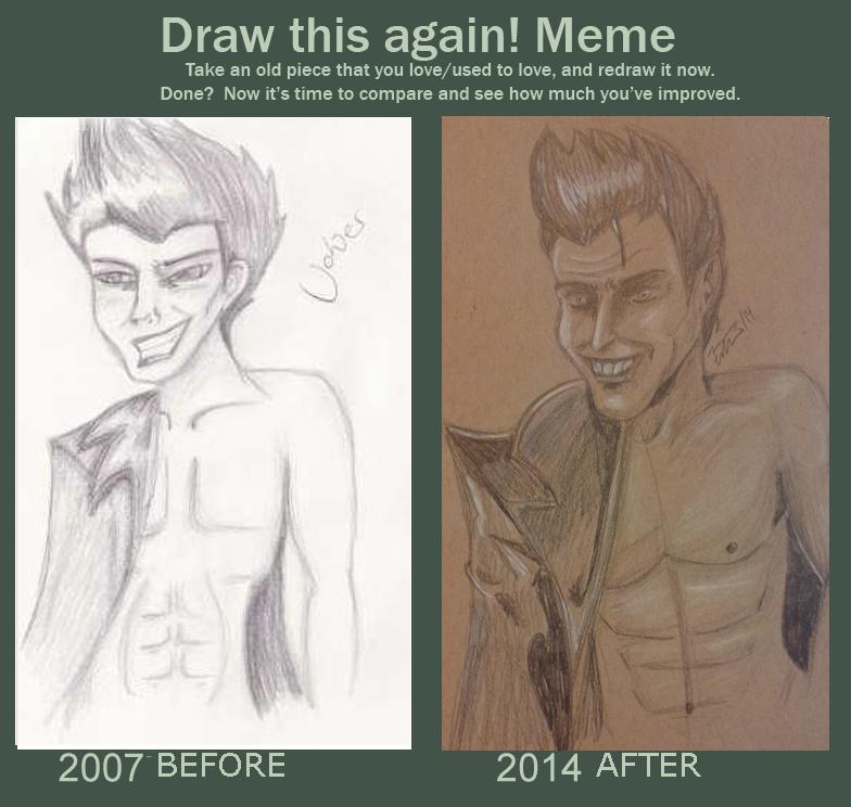 Draw it again meme - Shirtless Joker by MrsJ