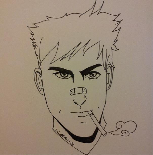 sketch smoking rlt by MrsJ