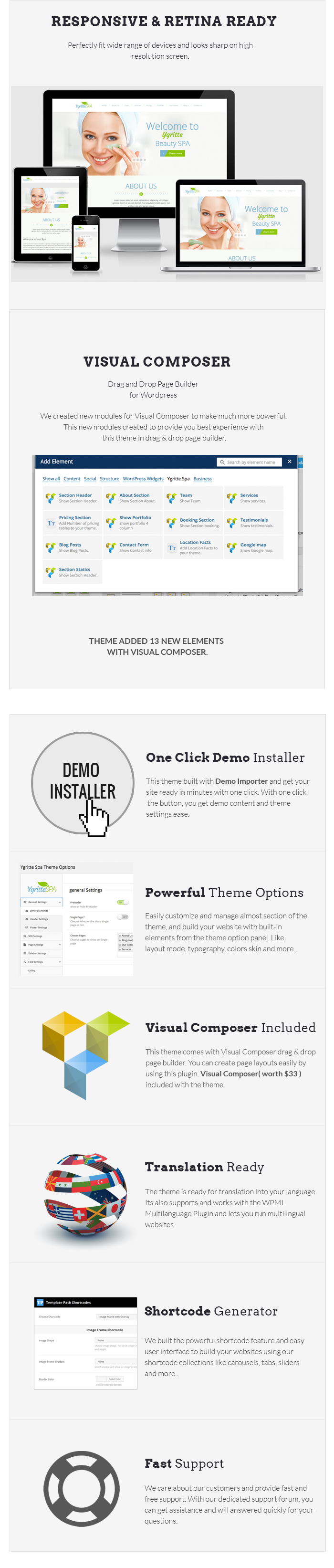 Ygritte Spa - Beauty Salon WordPress Theme
