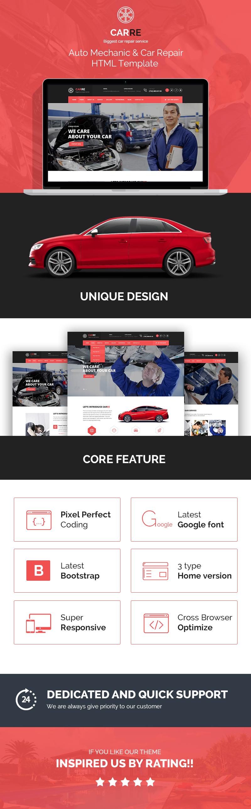 Car RE - Auto Mechanic & Car Repair HTML Template - 2