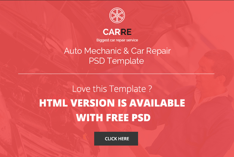 CARRE - Auto Mechanic & Car Repair PSD