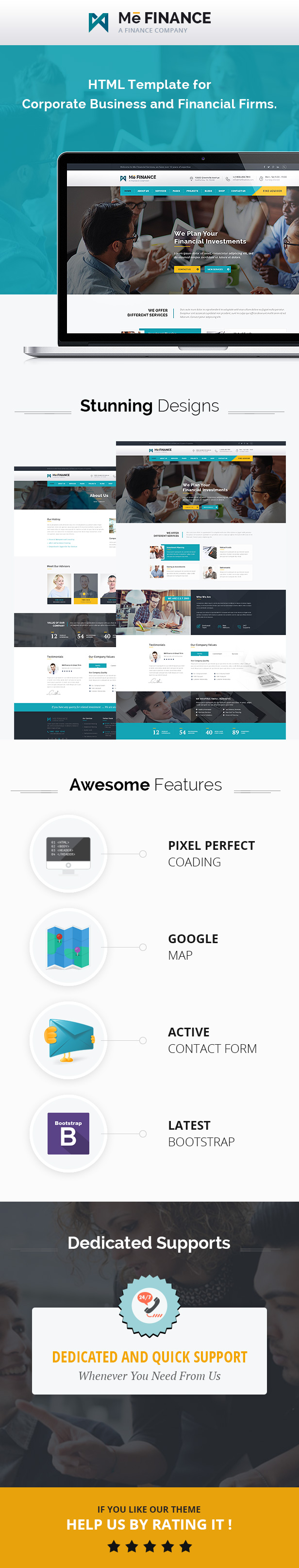 Me Finance - Business and Finance HTML Template - 2