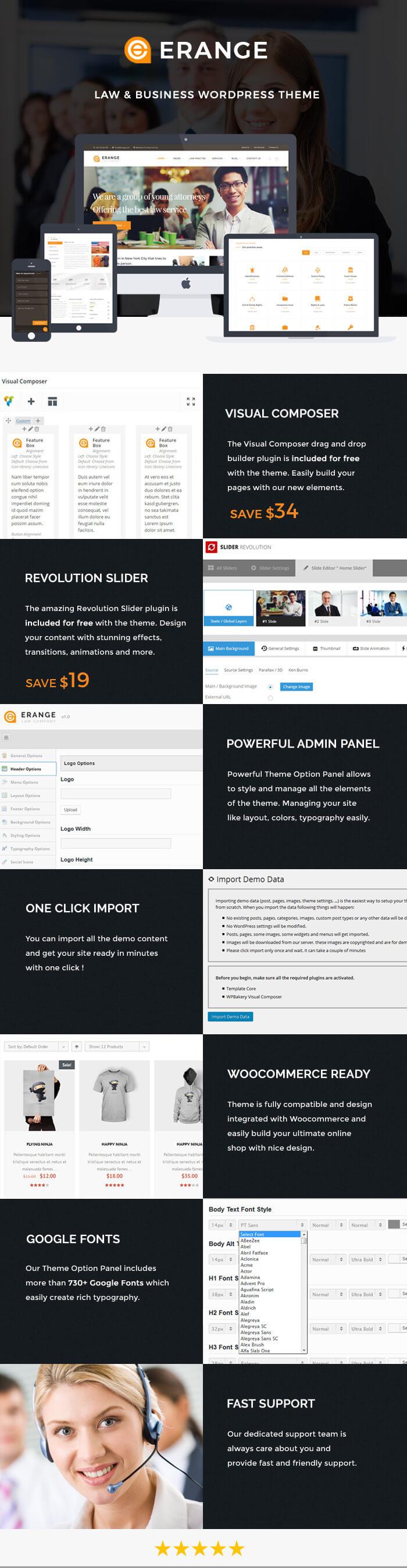 Erange- Law Firm WordPress Theme - 1