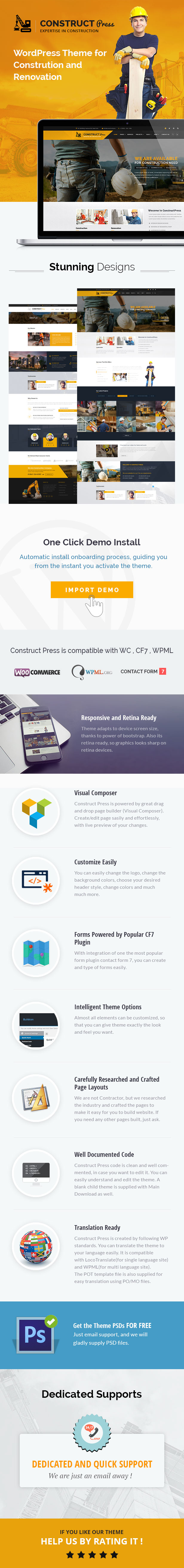 Construct Press - Construction and Renovation WordPress Theme - 1