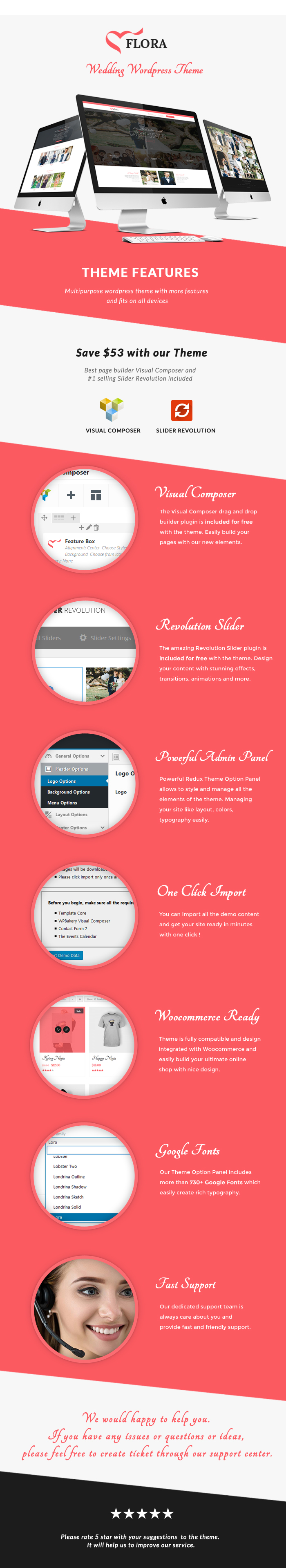 Flora - WordPress Wedding Theme - 1