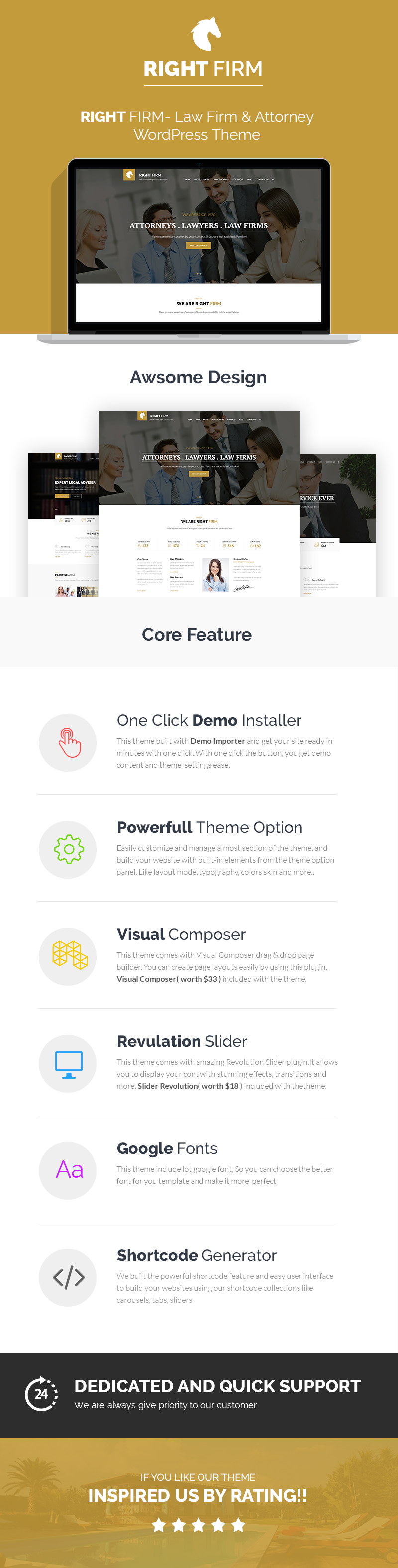 Right Firm- Law Firm WordPress Theme - 1