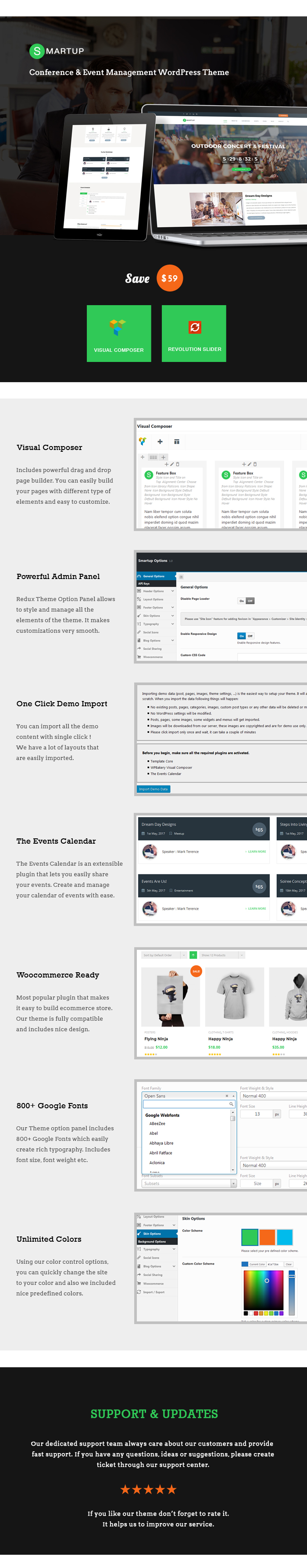 Smart Up - Conference & Event Management WordPress Theme - 1