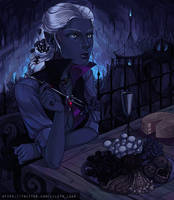 Patio Dining in the Underdark by LilyLuxe