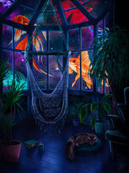 Cosmic Fish Tank by BeauPeep