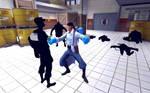 Medic girl vs shadow zombies (shadow fortress 2)