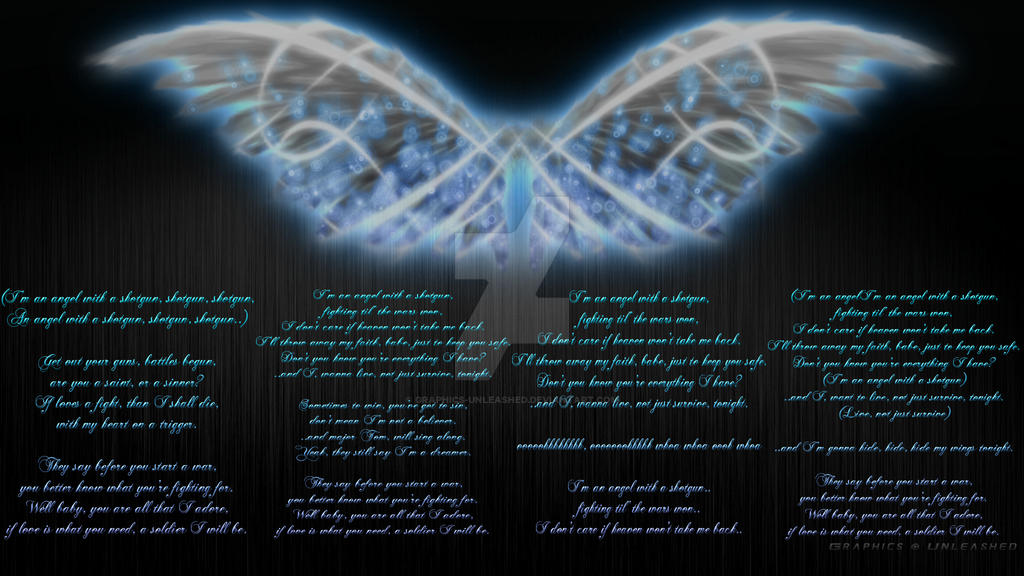 Angel With A Shotgun - Lyric Background by Graphics