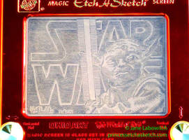 Yoda Star Wars etchasketch by pikajane