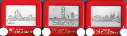 CedarPoint skyline etchasketch by pikajane