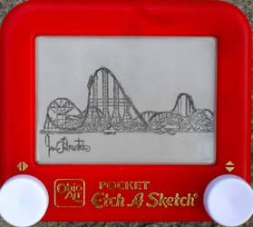 Cedar Point etchasketch 1 of 3 by pikajane
