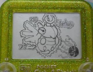 Shedinja etch a sketch by pikajane