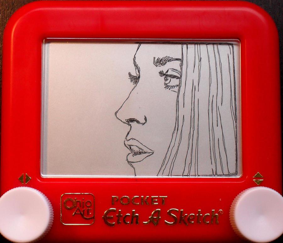 Lady Gaga VMA etch a sketch by pikajane