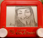 V for Vendetta Etch a sketch