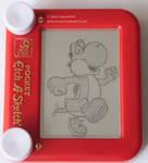 Yoshi etch a sketch