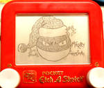 Voltorb Christmas etchasketch