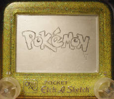 Pokemon logo etch a sketch