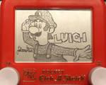 Luigi Etch a Sketch