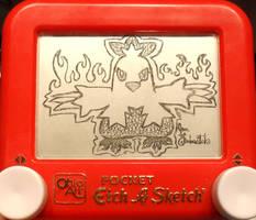 Combusken Etch a Sketch by pikajane