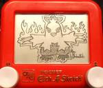 Combusken Etch a Sketch