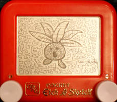 Oddish etch a sketch by pikajane