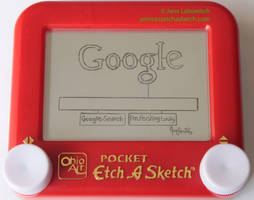 Google on my Etch A Sketch by pikajane
