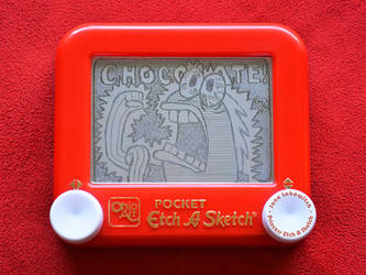 Chocolate Guy etch a sketch by pikajane