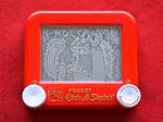 Chocolate Guy etch a sketch