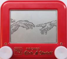 Creation of Adam: hands by pikajane