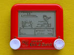 Pokemon yellow Etch A Sketch