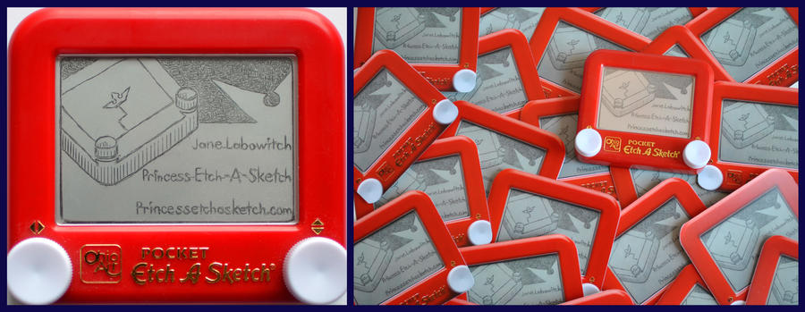 Etch A Sketch Business Card by pikajane
