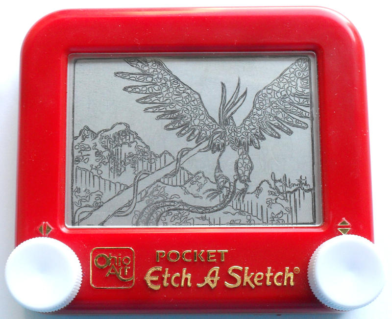 Articuno etch a sketch by pikajane
