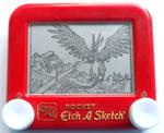 Articuno etch a sketch