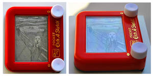 Etch a Scream by pikajane