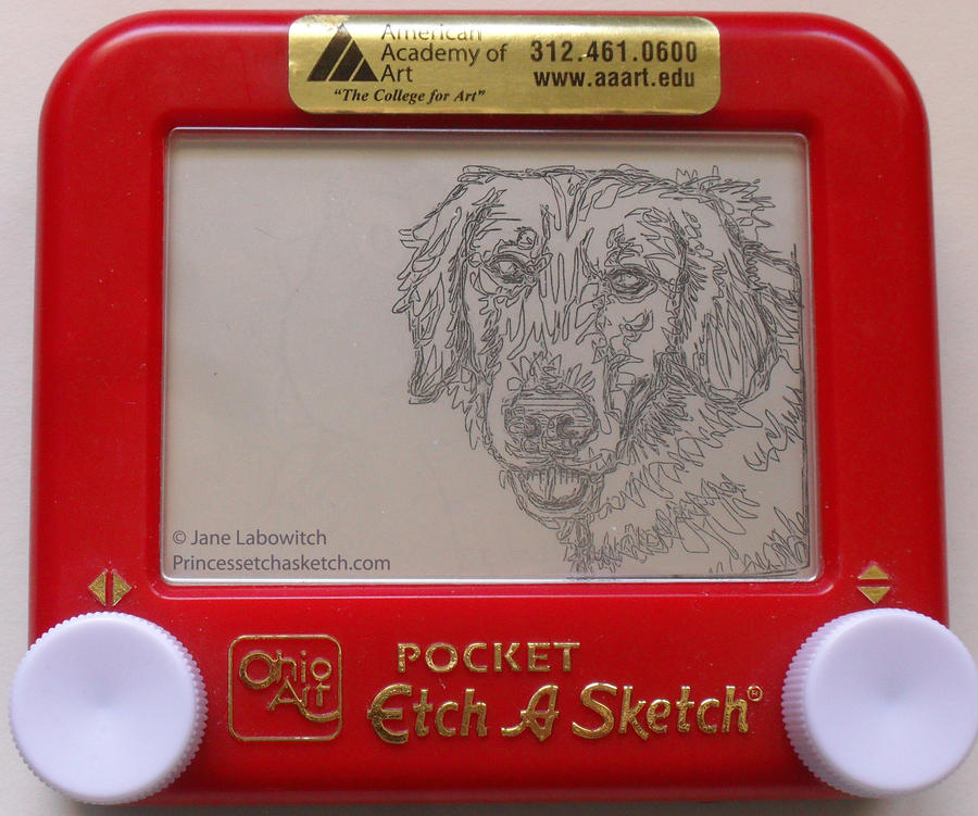 Boomer on an etch a sketch! by pikajane