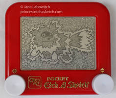 Zigzagoon etch a sketch by pikajane