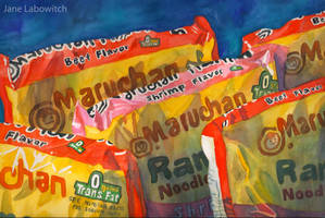 Ramen Noodles watercolor by pikajane