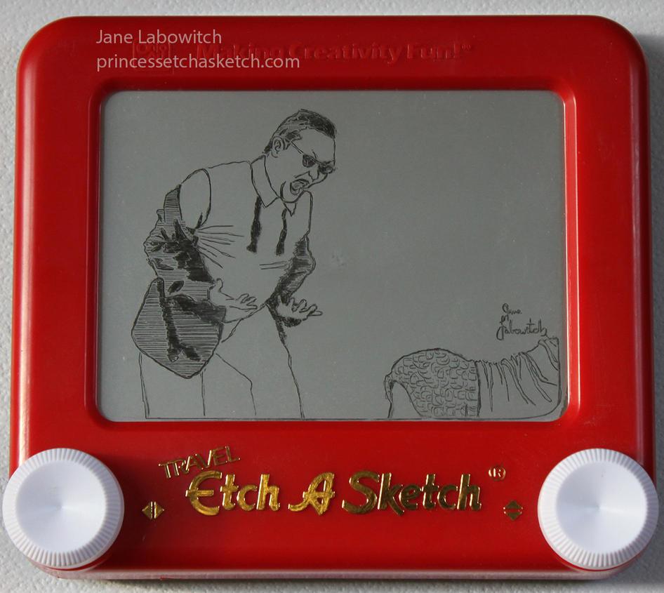 Gangnam Style etch a sketch by pikajane