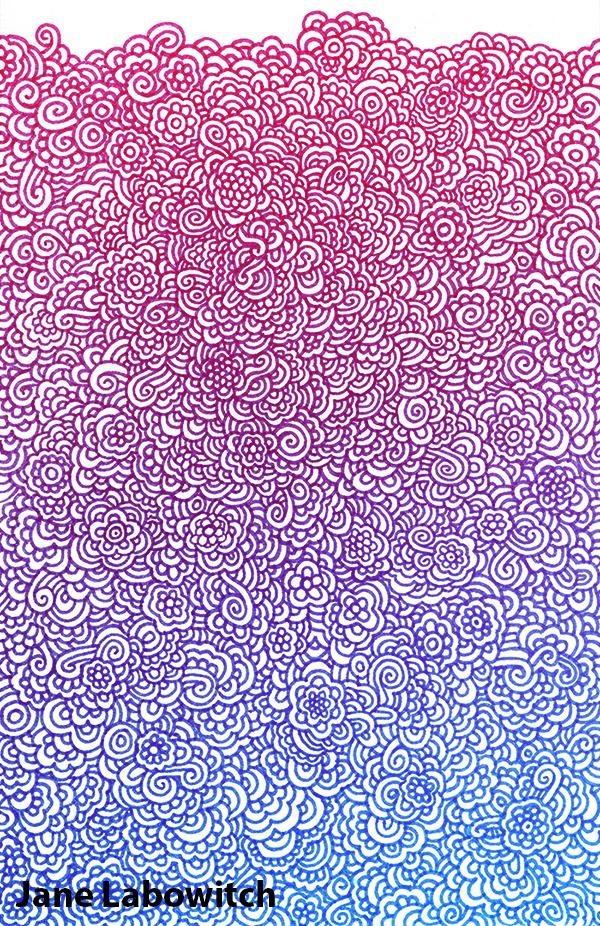 flowery doodle scan by pikajane