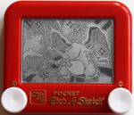 Charizard etch a sketch