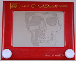 Skull WIP etch a sketch by pikajane