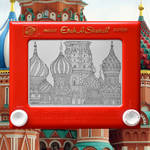 St. Basil's Cathedral etch a sketch