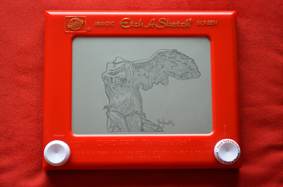 Winged Victory Etch A Sketch by pikajane