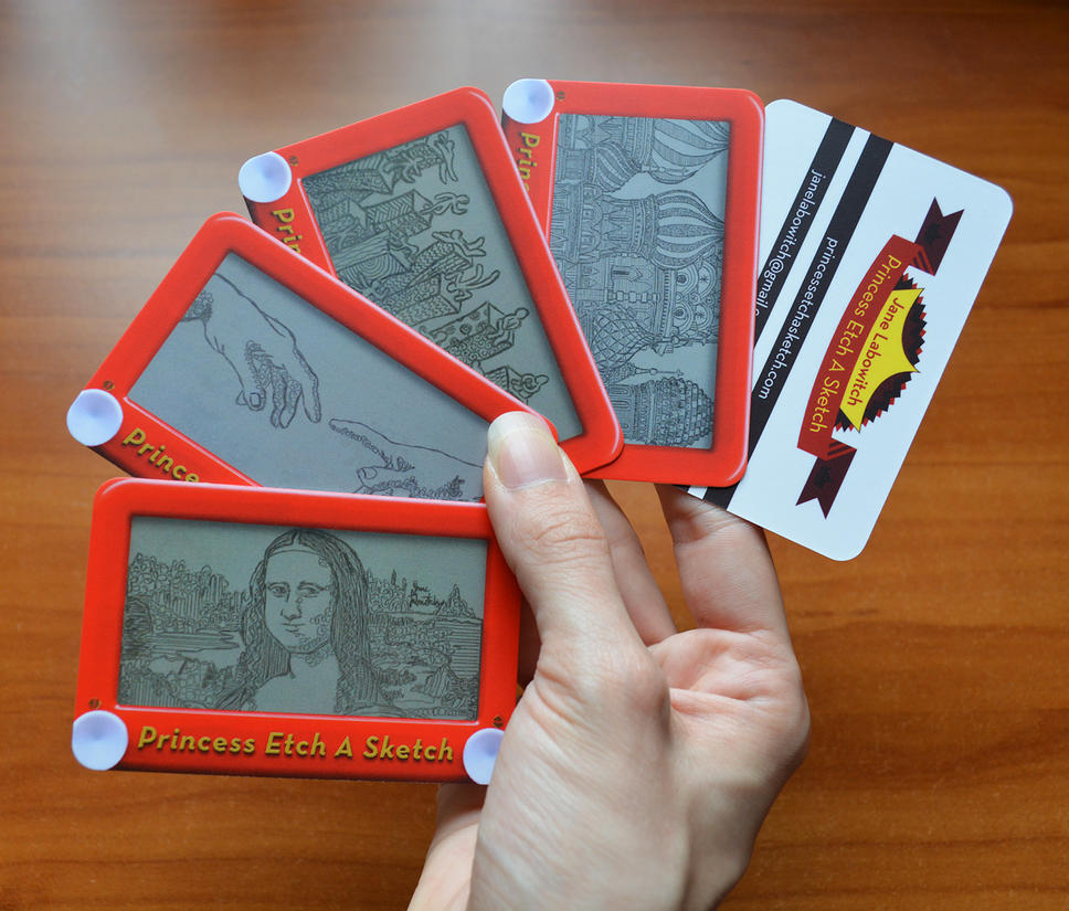 New Etch A Sketch business cards by pikajane on DeviantArt