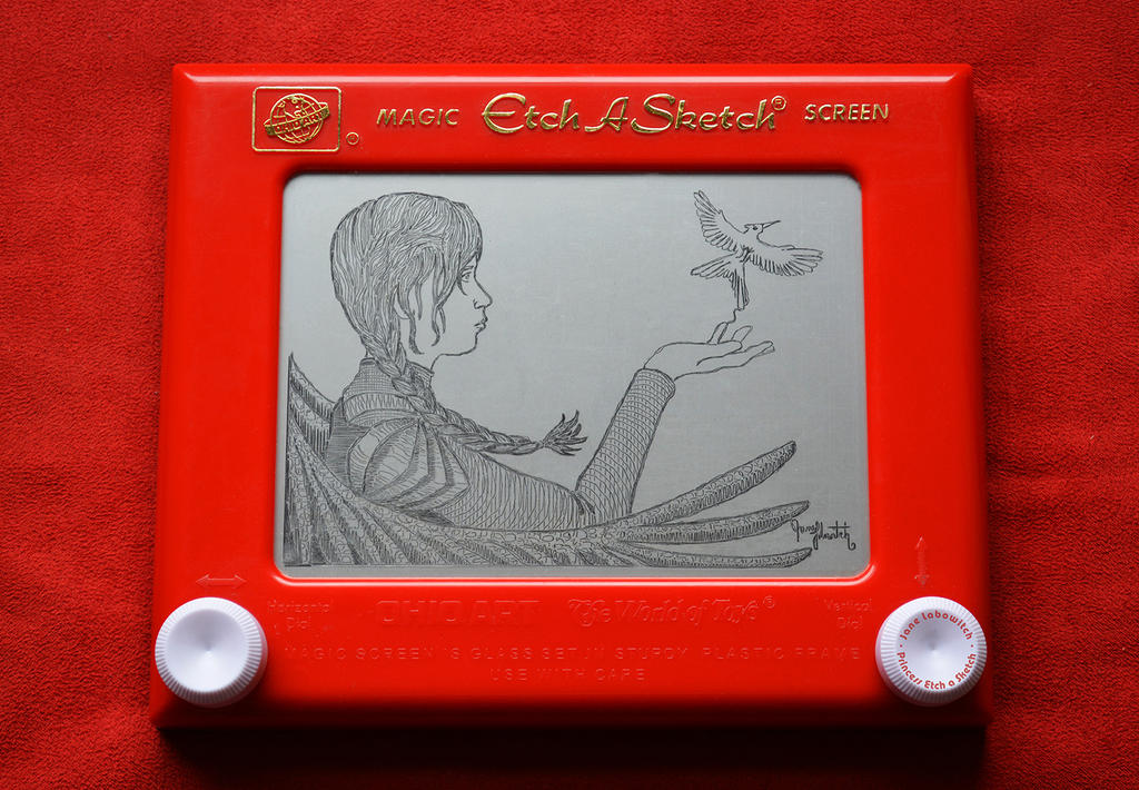 Katniss Etch A Sketch by pikajane