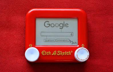New Google logo Etch A Sketch