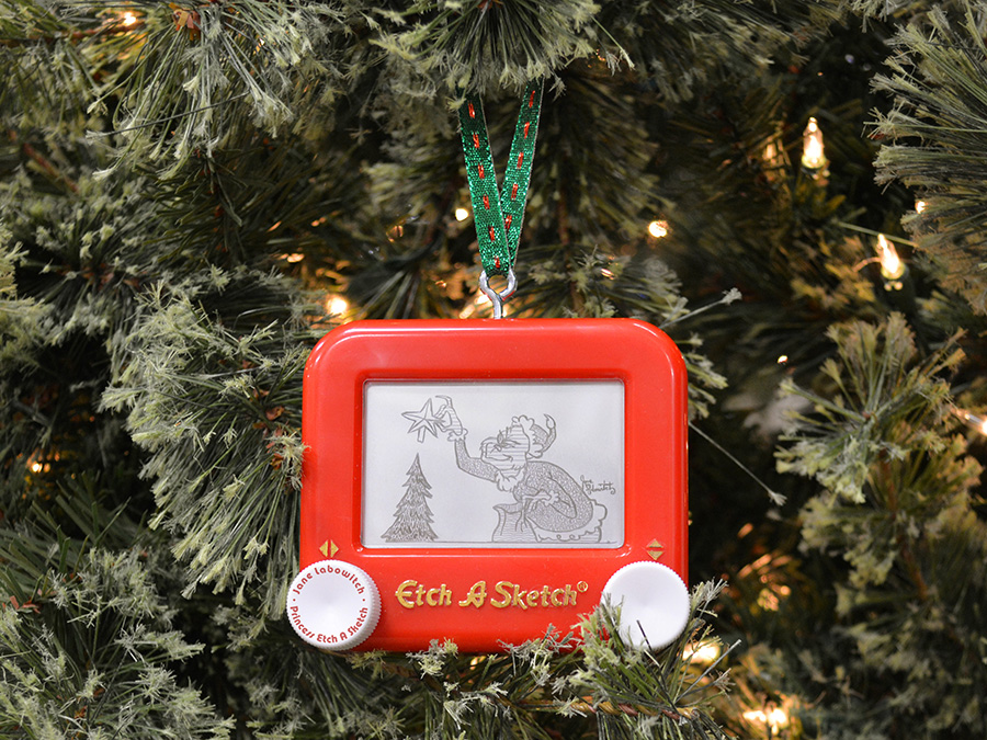 The Grinch Etch A Sketch Ornament by pikajane